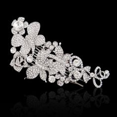 Wedding Flower Butterfly Floral Hair Comb by Voguejewelry4u, $31.99  Look great in my hair!!