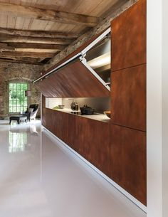 Kitchen designed to be hidden away at the push of a button
