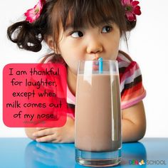 International Moment of Laughter Day is April 14th!  The kids will get a kick out of the FREE CLIP (Creative Learning in a Pinch) at DenSchool! children food, fruit smoothies, milk, healthy fats, whole foods, drink, healthy kids, london restaurants, chocolate syrup