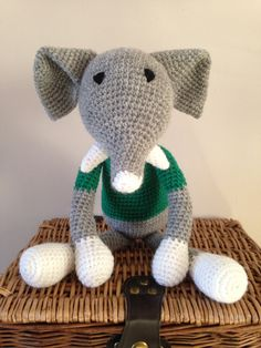 Handmade elephant by Bitzas on Etsy
