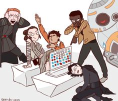rey beat kylo at connect-4. Draw the squad tHINGS JUST GOT REAL.                                                                                                                                                     More