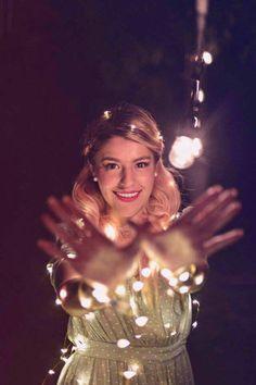 Lesslie con luces!!!!!