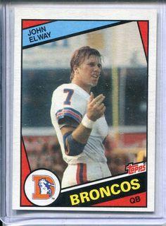 4fc594420df 1984 Topps John Elway Rookie RC Card   63 NM Go Broncos