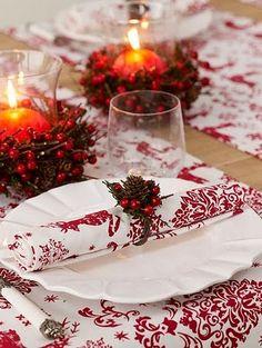natal decoração guardanapos