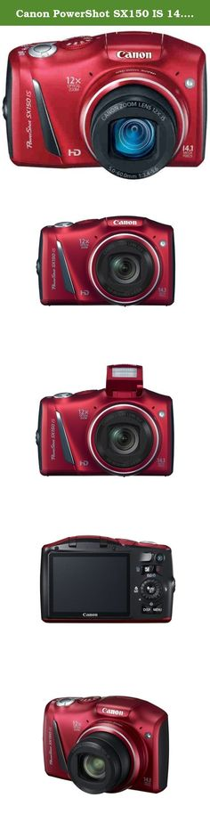 Canon PowerShot SX150 IS 14.1 MP Digital Camera with 12x Wide-Angle Optical Image Stabilized Zoom with 3.0-Inch LCD (Red) (OLD MODEL). 12x Wide-Angle Optical Zoom and 28mm lens with Optical Image Stabilizer reduces camera shake so you achieve brilliant images whether you are up close or far away. 14.1 Megapixel image sensor and Canon DIGIC 4 Image Processor delivers stunning quality images. Improved Smart AUTO intelligently selects the proper settings for the camera based on 32 predefined...