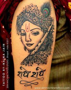 adcc05025 Krishna tattoo by - Naina Jain Insta - nains_tattoos Krishna Tattoo,