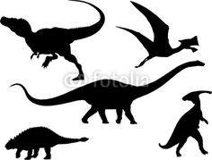 silhouette dinosaurs - Google Search