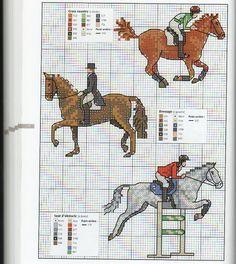 Gallery.ru / Фото #67 - Animaux de compagnie - Mongia riding hunting dressage cross stitch point de croix
