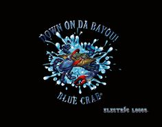 Blue Crab!! Down on the Bayou!! Light up sign for your car home or office..purchase your very own at https://www.electriclogos.com/