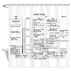 Apollo 11 Flight Plan Shower Curtain on CafePress.com