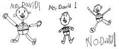 "Directed drawing for ""No David"""