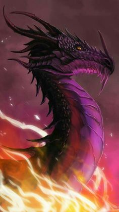 Love this dragon's shade of purple.