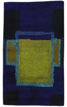 Rya Rug, Wool Rug, Textiles, Punch Needle, Rug Hooking, Fiber Art, Needlework, Helmet, Weaving