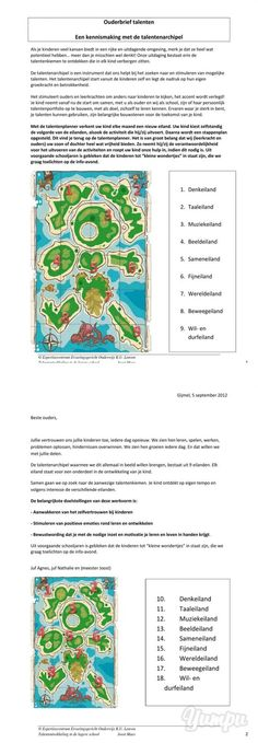 download ouderbrief talenten - Talentenarchipel-download ouderbrief talenten… Educational Leadership, Educational Technology, Social Skills Games, High School Counseling, Coaching, Teaching Skills, Learning Quotes, Education Quotes, Classroom Organisation
