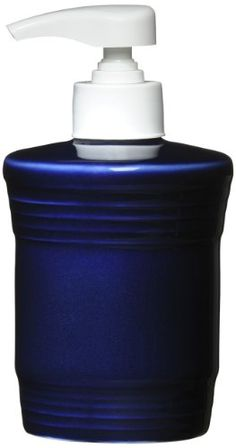 Lotion or soap dispenser in cobalt blue for the kitchen or bathroom.  Love the color! #cobaltbluekit