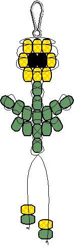 Sunflower pony bead pattern