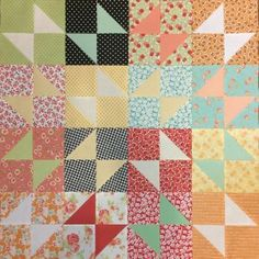 FREE up sized block, great for a baby quilt or multiple blocks pattern to show you a bed size quilt! http://www.ilovetomakequilts.com/2017/02/among-the-stars-block-9-solstice-sew-along-with-pat.html