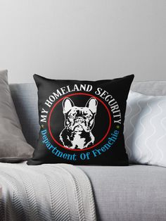 This artwork design is specially for all French Bulldog owner. Frenchie that handle security of your home. For All Proud and Passionate French Bulldog Frenchie Owners. Unique and Exclusive By Tee Republic.