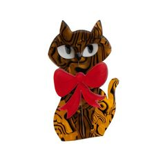 "Limited Edition Kat Cat brooch. ""Kitty Kat Cat and that's that!"""