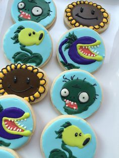 Plants vs zombies decorated cookies