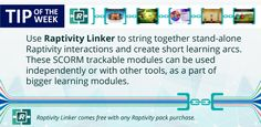 Tip of the Week: Create interactive microlearning modules using Raptivity Linker