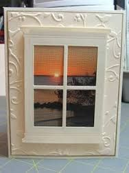 Image result for cathedral windows cards