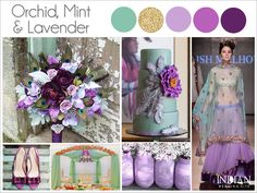 Orchid, Mint, Lavender  Radiant Orchid - indian wedding color palette #RadiantOrchid ☮k☮
