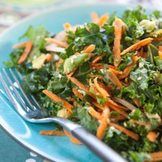 Kale, Carrot and Avocado Salad