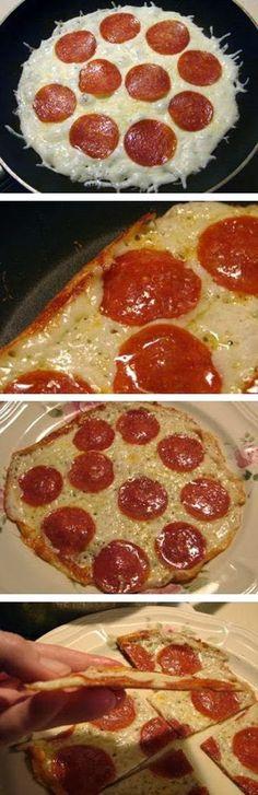 Skillet Pizza ~ Muchtaste