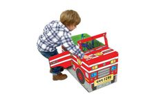 This 3-in-1 convertible book can be read as a story, used as a fold-out play mat and even be made into a sit-in fire engine.