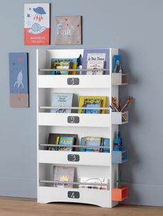 Lot de 3 bacs de rangement imprim s bleu imprim bo tes de rangement euro et rangements - Bibliotheque vertbaudet ...
