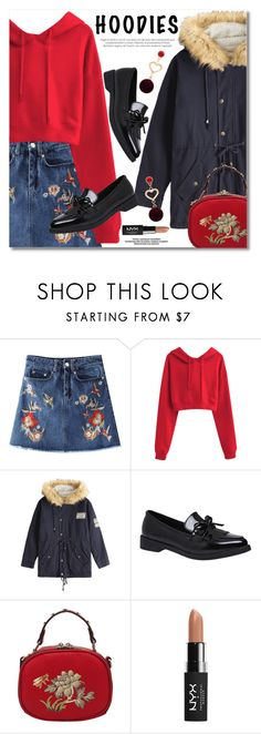 """""""In My Hood: Cozy Hoodies"""" by fshionme ❤ liked on Polyvore featuring NYX and Hoodies"""