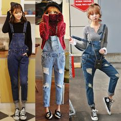 Cheap jumpsuit fashion, Buy Quality pants skateboard directly from China jumpsuits long Suppliers: 2014 Free shipping Korean New Womens Jumpsuit Denim Overalls Casual Skinny Girls Pants Jeans Size(CM)Waistli