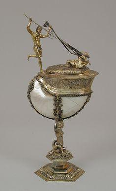 Nautilus cup by Friedrich Hillebrand, German, ca.1580-1608