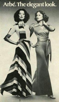 1974 US Harper's Bazaar November 1974 Models Veronica Hamel & Jane Hitchcock #scarf