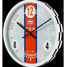 """Exquisite Timepieces®️ on Instagram: """"#BRM Gulf Wall #Clock Grey. Exquisite Timpieces is the Exclusive Authorized Dealer to Carry the Gulf Branded B.R.M. Watches! You can only…"""" Brm Watches, Blue Orange, Blue And White, Color Shapes, Canning, Grey, Clocks, Wall, Instagram"""