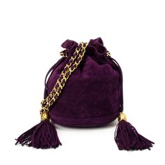 Chanel purple suede  Matelasse shoulder bag. Available at lxrco.com for   1599 be389d408d094