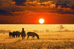 Sunset in Nigeria.
