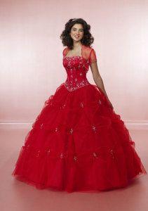 Vestidos rojos de XV años 20153
