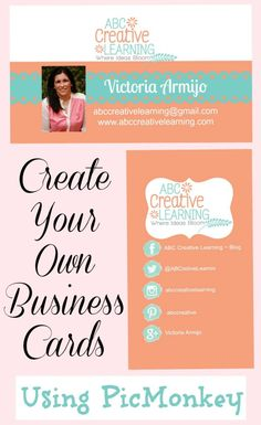 Easy Way to Create your own business cards using picmonkey and then sending to print! #DIYBusinessCards