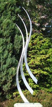 Garden sculpture and landscape art for private and public gardens, commercial spaces, art for homes and offices Steel Sculpture, Sculpture Art, Garden Sculpture, Metal Garden Art, Metal Art, A Touch Of Zen, Yard Sculptures, Public Garden, Metal Projects