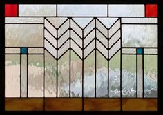 Mission style stained glass makes a great accent piece.