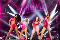 Defending themselves: Jade Thirlwall, Perrie Edwards, Leigh-Anne and Jesy Nelson were blas...