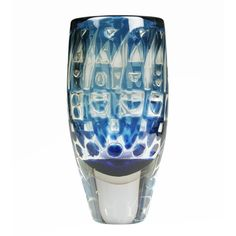 Orrefors Ariel Vase by Ingeborg Lundin  Sweden  1960's  This is a vibrant and optical Orrefors Glass Vase with geometric designs. Marked Ariel Na 405-E, Ingeborg Lundin. The pontil on this vase is masterfully polished.