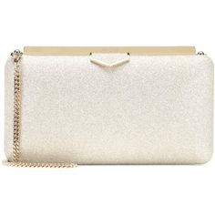 Jimmy Choo Ellipse Metallic Clutch ($880) ❤ liked on Polyvore featuring bags, handbags, clutches, metallic, shoulder bags, shoulder hand bags, white handbag, jimmy choo handbags, jimmy choo purses and jimmy choo shoulder bag