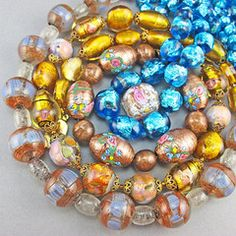 Goodoldbeads - Collections - Vintage Foil Glass Beads