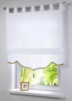 Diy Window Blinds, Blinds For Windows, Curtains With Blinds, Valance Curtains, Scandinavian Window Treatments, Living Room Decor, Bedroom Decor, Home Room Design, Küchen Design