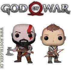 Figurine Funko POP Bundle Games God of War Kratos (Axe) + Atreus ge... Kratos Axe, Funko Pop, Bd Comics, God Of War, Manga, Geek Stuff, Games, Awesome, Video Games