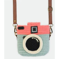 Crochet Case for Fuji Instax Camera Lomo Camera/ Mint Chocky Pink... ($28) ❤ liked on Polyvore featuring accessories