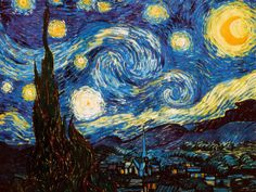 Starry Night, c.1889... one of the first prints I had purchased on the Mall at U of A my freshman year.